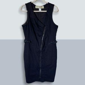 PRAIRIE UNDERGROUND Denim Scuba Zip Dress